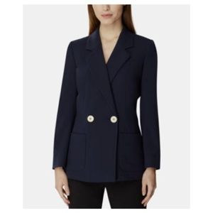 Tahari Asl Double-Breasted Notch Blazer Jacket